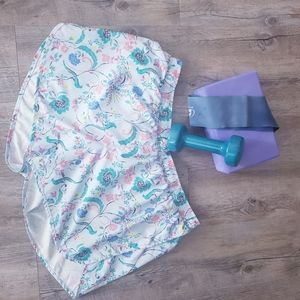 OLD NAVY   Floral Blue Activewear Shorts Size Xl